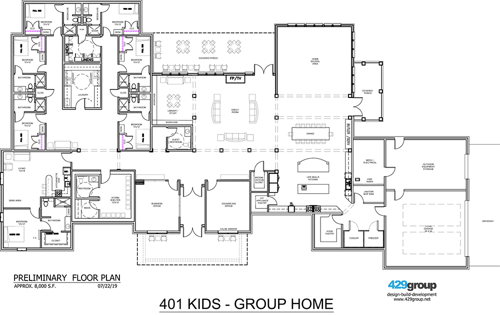 401-Kids group home floor plan